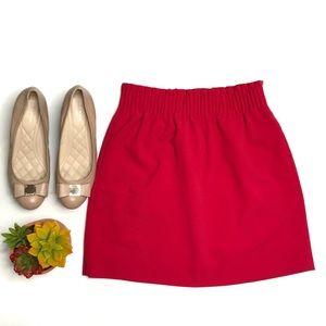 NWT J. Crew Sidewalk Skirt in Vibrant Flame Red